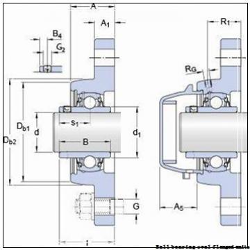 skf F2B 20M-WF Ball bearing oval flanged units