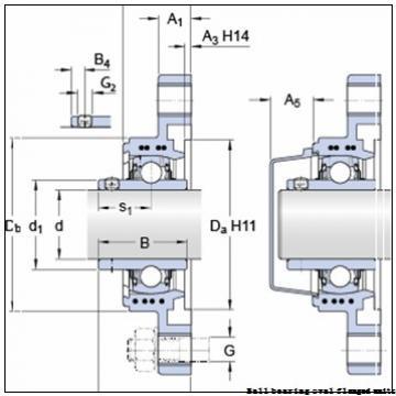 skf F2B 115-TF Ball bearing oval flanged units