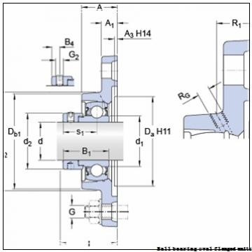 skf FYTWK 1.1/4 YTH Ball bearing oval flanged units