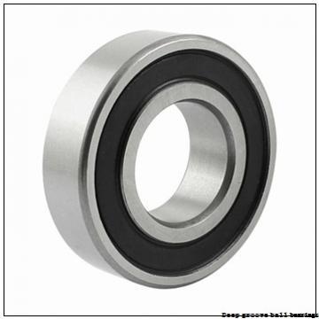 6 mm x 17 mm x 6 mm  skf W 606 Deep groove ball bearings