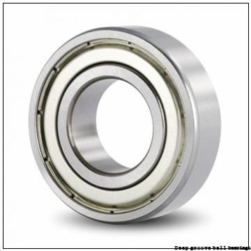 2 mm x 6 mm x 2.3 mm  skf W 619/2 Deep groove ball bearings