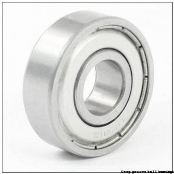 6 mm x 12 mm x 3 mm  skf W 627/6 X Deep groove ball bearings