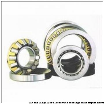 skf FSAF 1516 x 2.5/8 SAF and SAW pillow blocks with bearings on an adapter sleeve