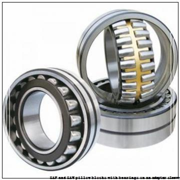 skf SAF 1622 x 4 T SAF and SAW pillow blocks with bearings on an adapter sleeve